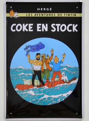 Cartel Metálico Tintín, Stock de Coque