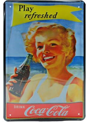 Cartel Publicitario Coca Cola Play Refreshed