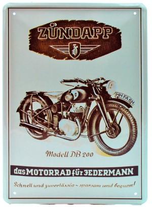 Cartel Metálico Zundapp