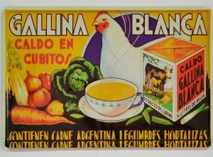 Cartel Metálico de Caldo Gallina Blanca
