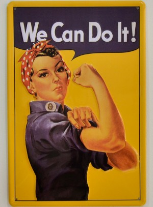 Cartel Metálico We Can Do It