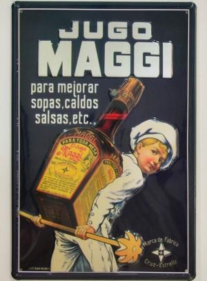 Cartel Publicitario Jugo Maggi