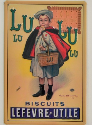 Cartel Publicitario Galletas Lulu