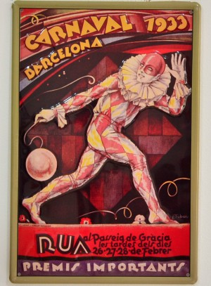 Cartel Metálico Carnaval Barcelona 1933