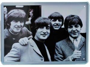 Cartel Metálico Beatles