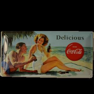 Cartel Publicitario Coca Cola Delicious