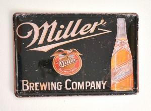 Cartel de Cerveza Miller