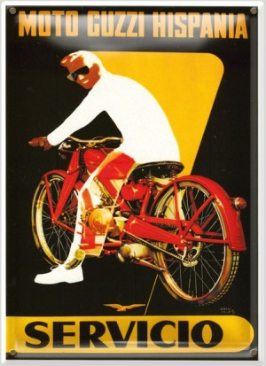 Postal Metálica Moto Guzzi