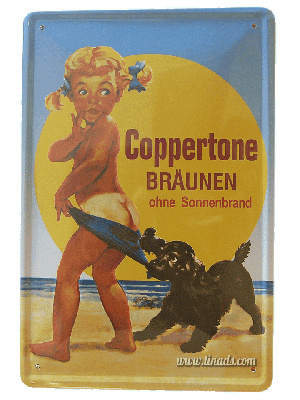 Cartel Publicitario Coppertone