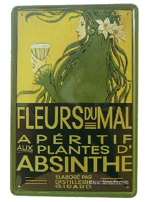 Cartel Metálico Fleurs Du Mal