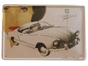 Cartel Metálico Vw Karmann