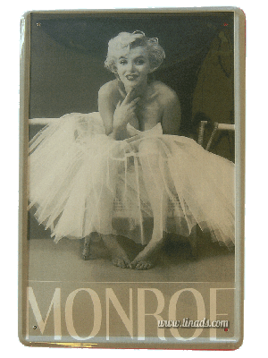 Cartel Metálico Marilyn (Milton Greene)