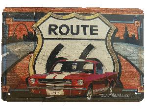 Cartel Metálico Mustang GT 350