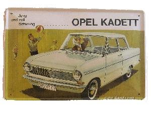 Cartel Metálico Opel Kadett