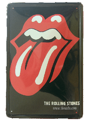 Cartel Metálico Rolling Stone