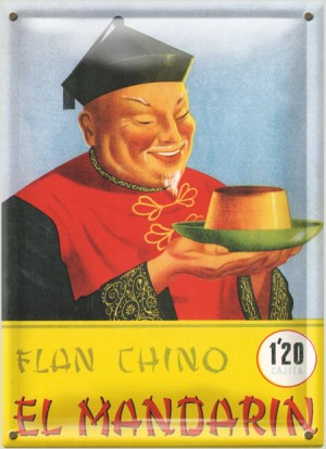 Postal Metálica Flan Chino El Mandarin