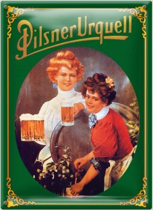 Postal Metálica Pilsner Urquell