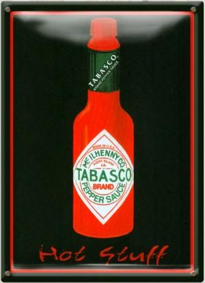 Postal Metálica Tabasco Hot Stuff