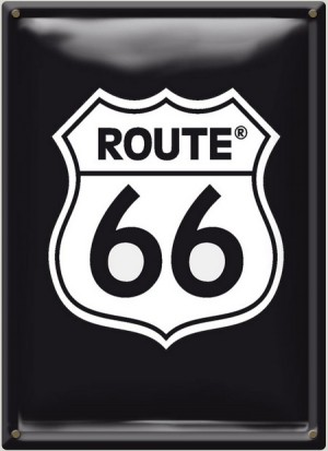 Postal Metálica Route 66