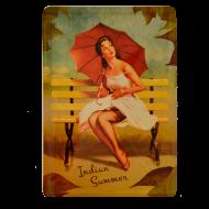 Postal Metálica Pin up, Indian Summer