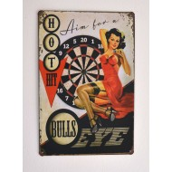 Cartel  Metálico Bulls Eye Pin up
