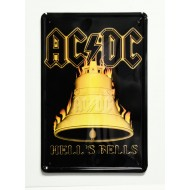 Cartel  Metálico AC / DC Hell´s Bells