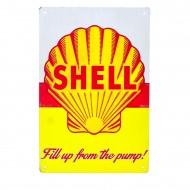 Cartel Metálico de Shell