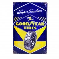 Cartel Metálico de Good Year Tyres