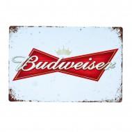 Cartel Metálico de Budweisser logo