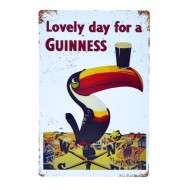 Cartel Metálico de Lovely Day for a Guinness