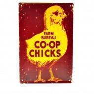 Cartel Metálico de Coop Chicks