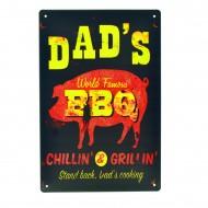 Cartel Metálico de Dad´s BBQ