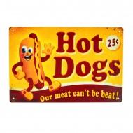 Cartel Metálico de Hotdogs