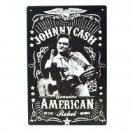 Cartel Metálico de Johnny Cash