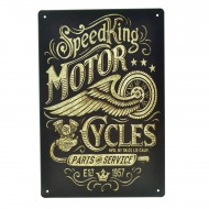 Cartel Metálico de Speed King Motor Cycles