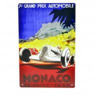 Cartel Metálico de GP Monaco 1935
