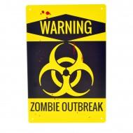 Cartel Metálico de ZombieOutbreak