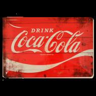 Cartel Metálico Coca Cola Logo Rojo