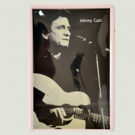 Cartel Metálico de Johnny Cash guitar