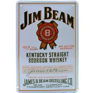 Cartel Publicitario Jim Beam Blanco