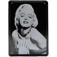 """Cartel Metálico Marilyn Monroe  """"Los hombres las prefieren rubias"""""""