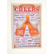 Cartel de Cerveza Beer Cheers