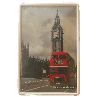 Cartel Metálico Londres