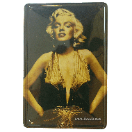 Cartel Metálico Marilyn (golden)