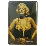 Cartel Metálico Marilyn (golden)