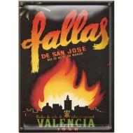 Postal Metálica Fallas Valencia 1958