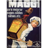 Postal Metálica Maggi