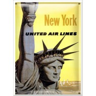 Postal Metálica New York United Airlines