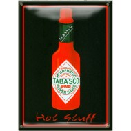 Postal Metálica Tabasco Hot Stuff