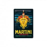 Cartel Vintage Vermouth Martini Uvas